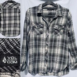 Volcom Plaid Flannel Long Sleeve Button Down S